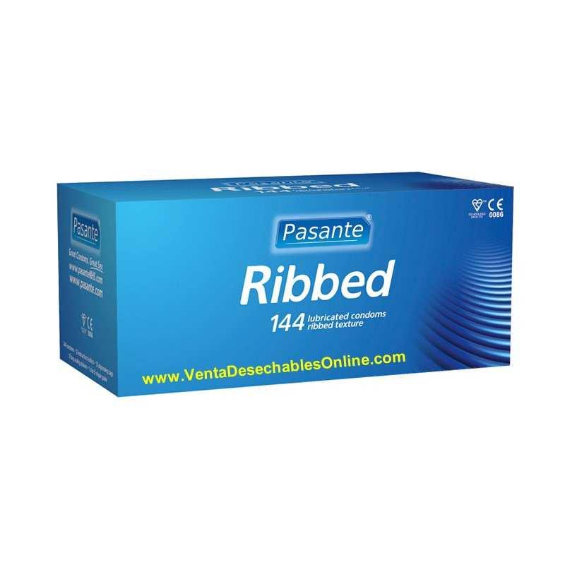 144 Preservativos Pasante 190x52 mm Ribeteados