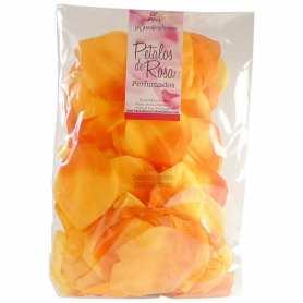 90 Pétalos Color Amarillo Naranja Perfumados