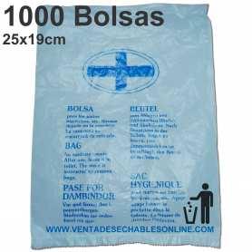 1000 Bolsa Higiénicas 25x19 cm
