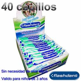 40 Cepillos Dentales Con Pasta Integrada Flashdent