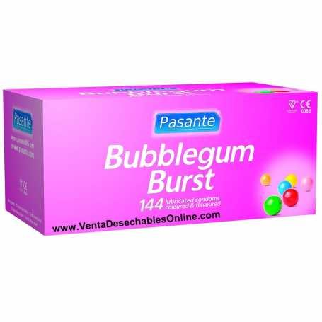 144 Preservativos Pasante 190x52 mm Bubblegum Burst