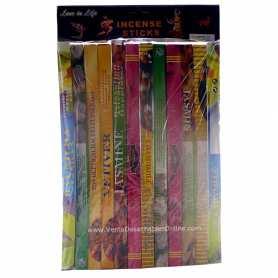 Pack 12 Inciensos de 6 olores variados