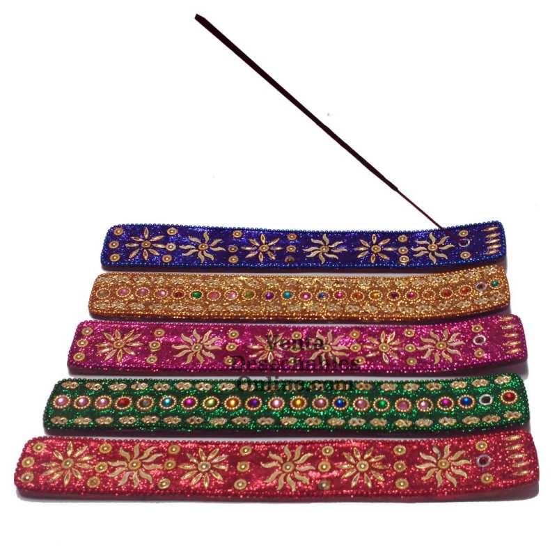 Soporte Incienso Lentejuelas (colores variados)
