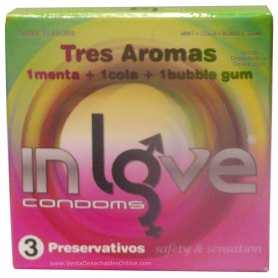 3 Condones In love 190x54 Menta, Cola y Chicle