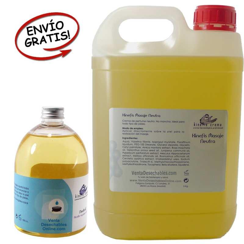 Aceite Masaje Neutro 5 Litros y Bote 500 ml