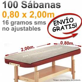 100 Sábanas Camilla 0,80x2,00m