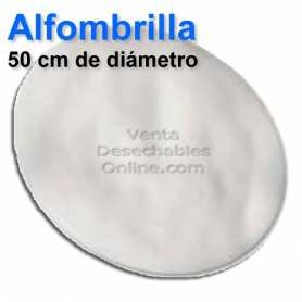 Alfombra Redonda Blanca 50cm