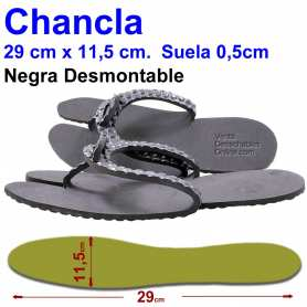 Chancla 29 cm (44) Desmontable Negra