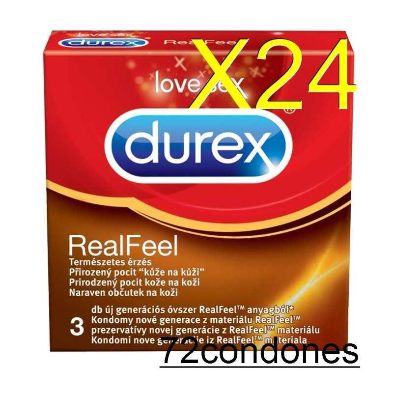 Preservativos Durex 3 uds (72) RealFeel Vending