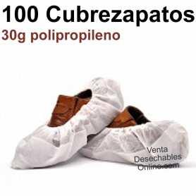 100 Cubrezapatos Polipropileno Blancos 30g