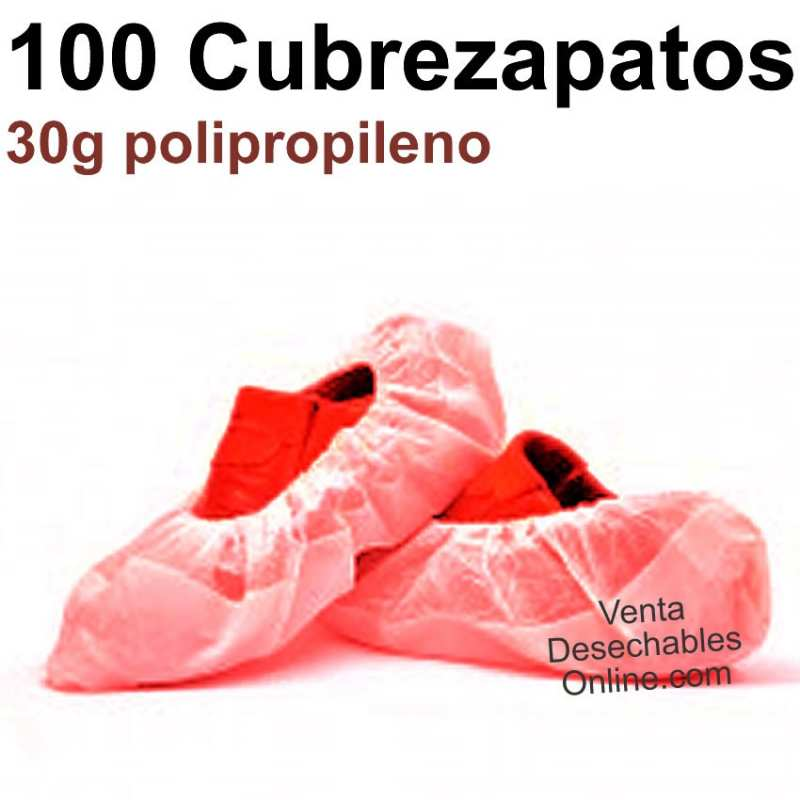 100 Cubrezapatos Polipropileno Rojos 30g