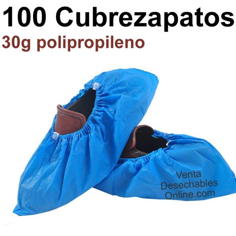 100 Cubrezapatos Polipropileno Azules 30g