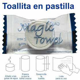 1 Toallita Comprimida En Pastilla Magic Towel