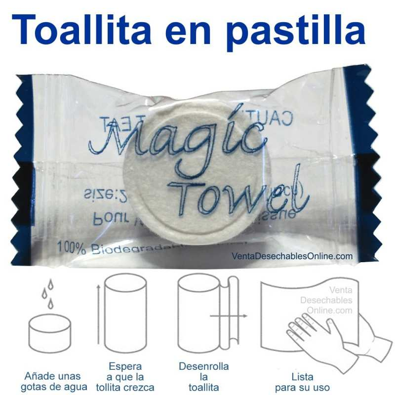 Toallita Comprimida En Pastilla Magic Towel