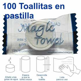100 Toallitas Comprimidas En Pastilla Magic