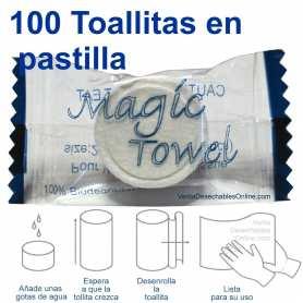 100 Toallitas Comprimidas En Pastilla Magic Towel