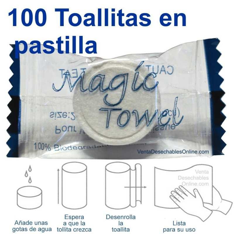 100 Toallitas Comprimidas En Pastilla Magic