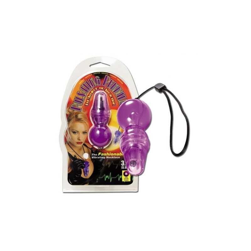 Pendulo Vibrador Estimulador Punto G Mujer 8,9 cm Morado
