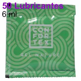 50 Sobres Lubricante 6ml Gel Confortex