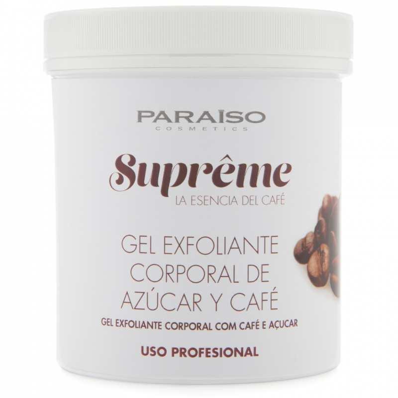 Gel Exfoliante Corporal de Azúcar y Café Paraíso Cosmetics