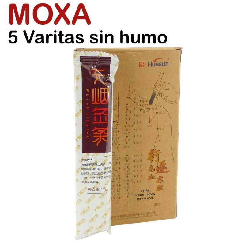 5 Varitas Moxa Sin Humo 12 cm Huasun