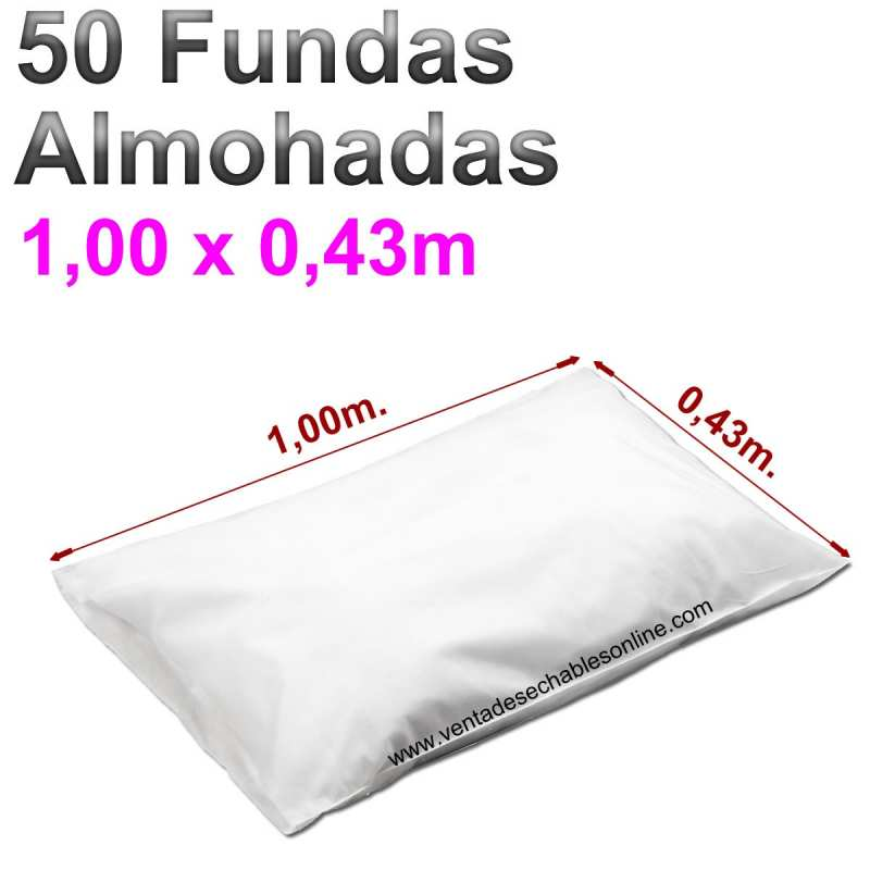 50 Fundas Almohadas Desechables 1,00 x 0,43m.