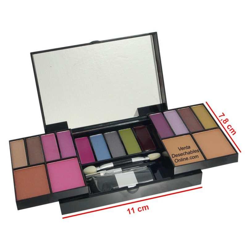 Mini Cofre Maquillaje 17 Colores - Melvi