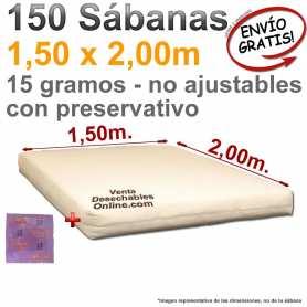 Sábanas Desechables con preservativo 1,50x2,00