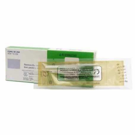 100 Agujas Acupuntura Acero Siliconada Con Mango de Plata y Cabeza y Guía 0,26 x 25 mm / 32 x 1 Cun