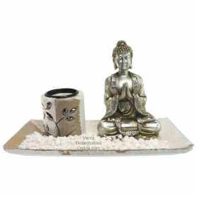 compra Buda plateado decoración