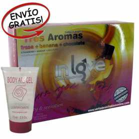 144 Condones Fresa Plátano y Chocolate In Love y Lubricante Body Ars