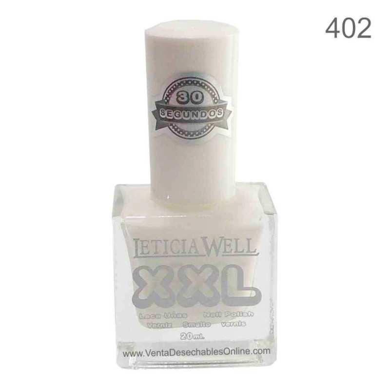 Leticia Well Laca De Uñas XXL 402 - Blanco - Secado Rápido -