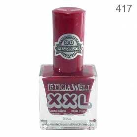 Laca De Uñas XXL 417 - Tono Rojo - Secado Rápido - Leticia Well