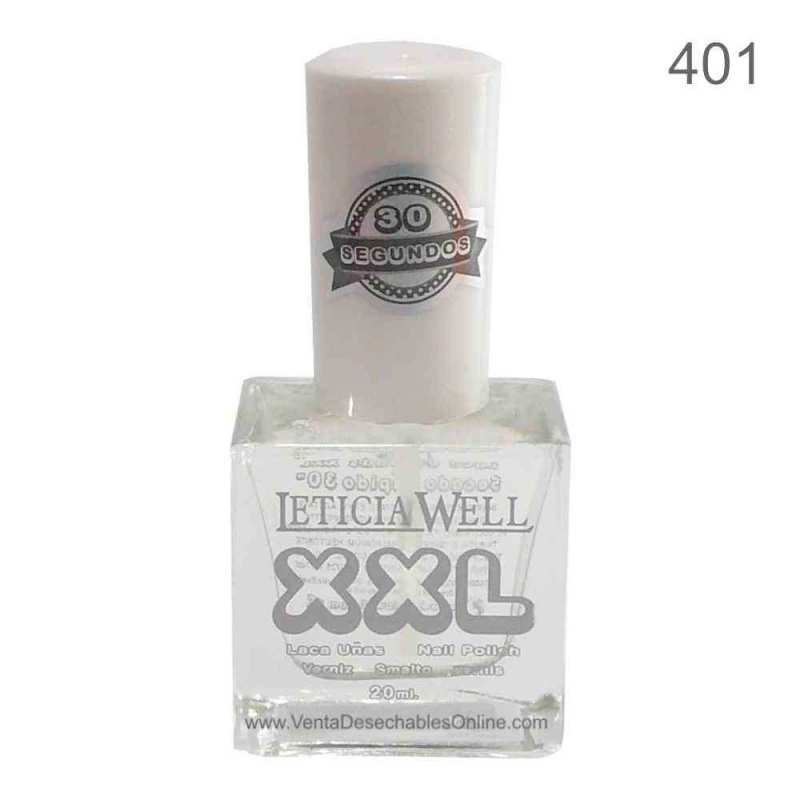 Laca De Uñas XXL 401 - Transparente - Secado Rápido - Leticia Well