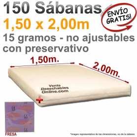150 Sábanas Desechables 1,50x2,00m. Con Preservativo Confortex Fresa