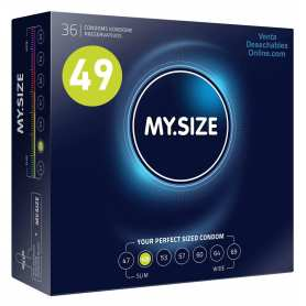 36 Condones My Size 160x49 mm