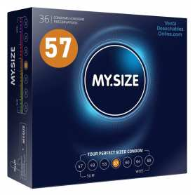 36 Condones My Size 178x57 mm