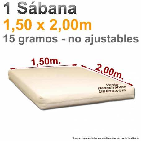 1 Sábana Desechable 1,50x2,00m. Genérica