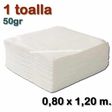 1 Toalla Desechable 50gr 0,80 x 1,20 metros
