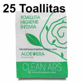 25 Toallitas Higiene íntima Aloe Vera - Body Ars