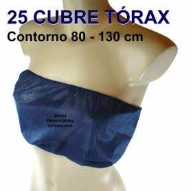25 Cubre Tórax Desechables 80 - 130 Azules