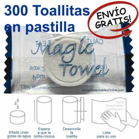 300 Toallitas Comprimidas En Pastilla Magic Towel