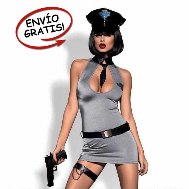Disfraz Policía Mujer Obsessive. Talla L/XL