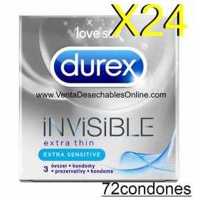 Preservativos Durex Invisible Extra Fino Sensitivo Vending
