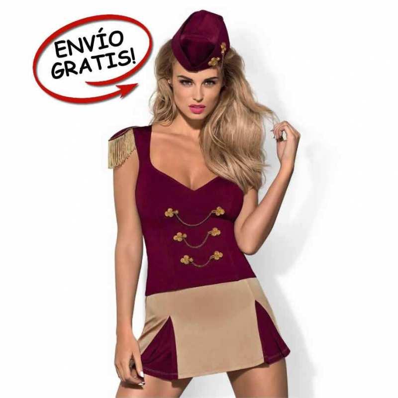 Disfraz Bailarina Majorette Obsessive. Talla S/M