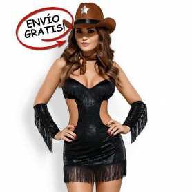 Disfraz Vaquera Sheriff Mujer Obsessive. Talla L/XL
