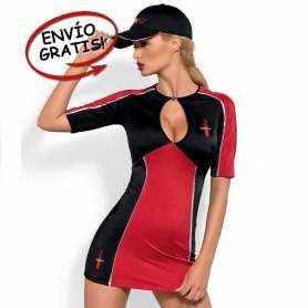 Disfraz Azafata Rally Mujer Obsessive. Talla L/XL