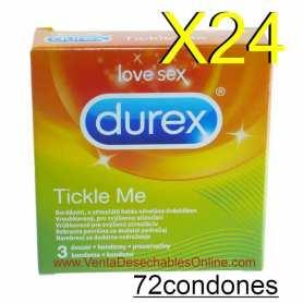 24 Cajas de 3 Preservativos Durex Tickle Me Vending