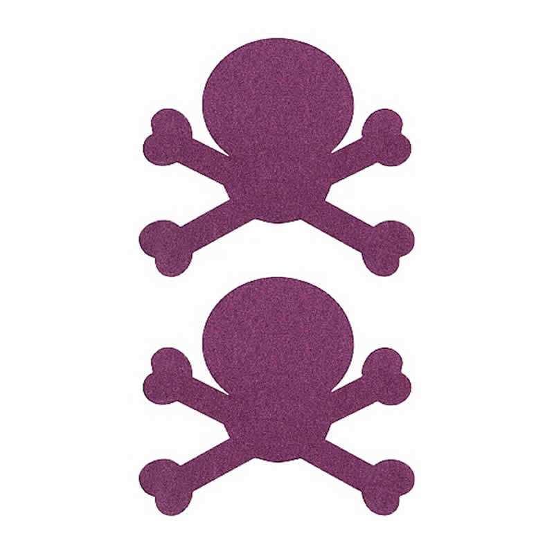 Cubre Pezones Adhesivos Calavera lila
