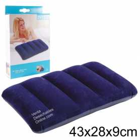 Almohada Hinchable 43x28x9 Azul Intex